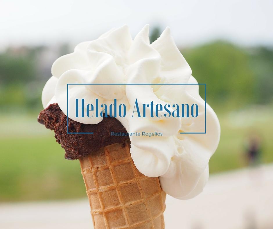 Helado artesano restaurante Rogelios Zaragoza