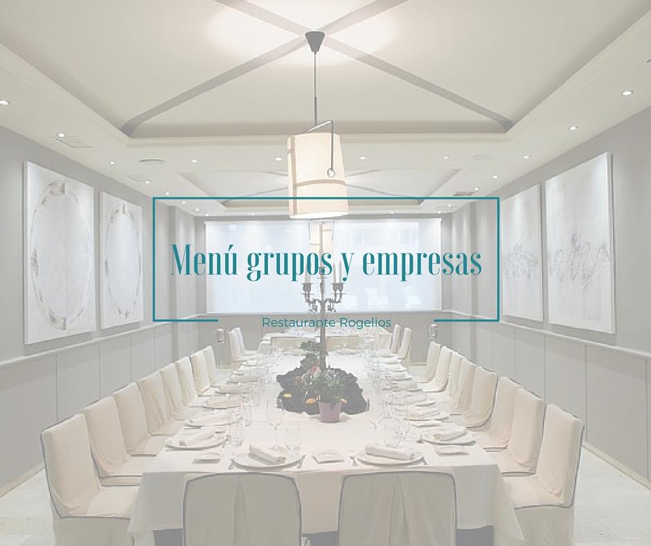 Menú para grupos y empresas